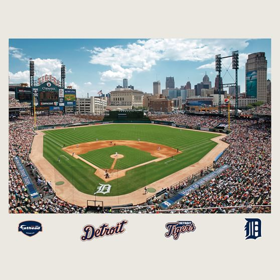 Comerica Park Detroit Michigan: Detroit Tigers Comerica Park Stadium Mural, Fathead