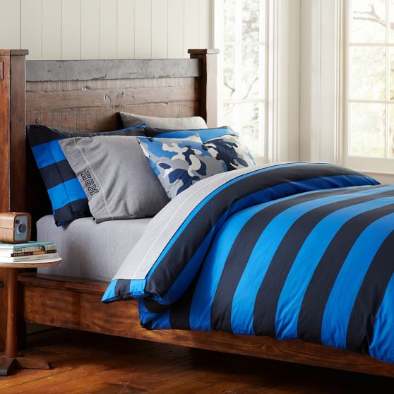 Rugby Stripe Duvet Cover Pillowcases Pbteen