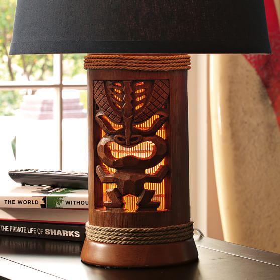 Harp Bar Lamp: Tiki Lamp Base