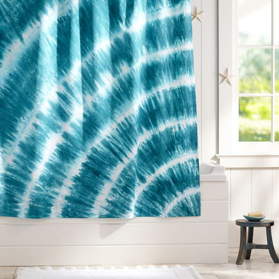 Tatum Tie Dye Shower Curtain Pool Pbteen