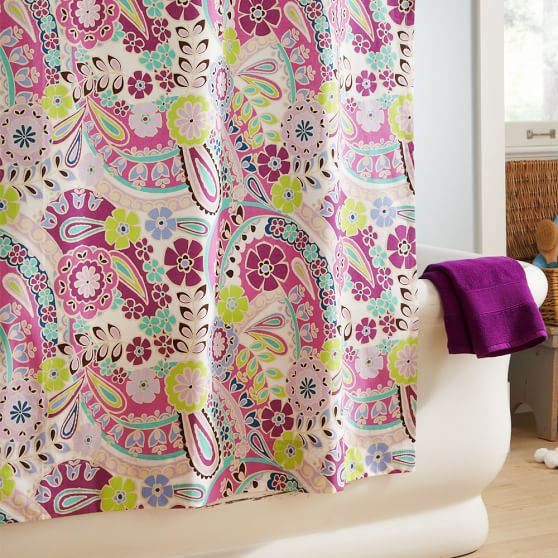 Paisley Pop Shower Curtain Purple Pbteen