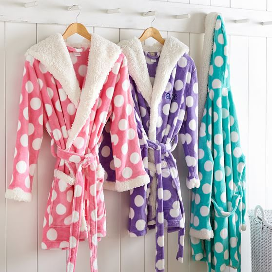 polka dot bath robe