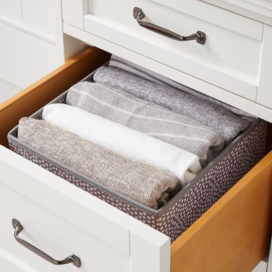 Drawer organizer deep t shirt storage pbteen for T shirt drawer organization