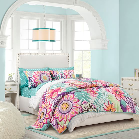 Keala Floral Surf Quilt, Full/Queen