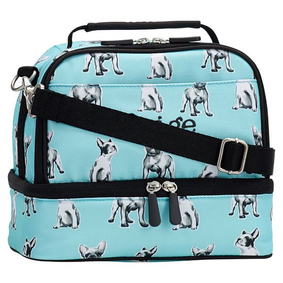 Gear-Up Frenchie Pups Dual Compartment Lunch Bag