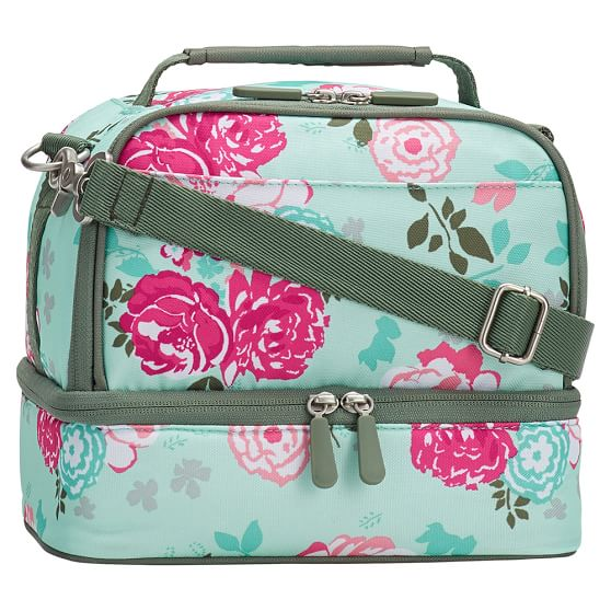 Gear-Up Garden Party Floral Dual Compartment Lunch Bag