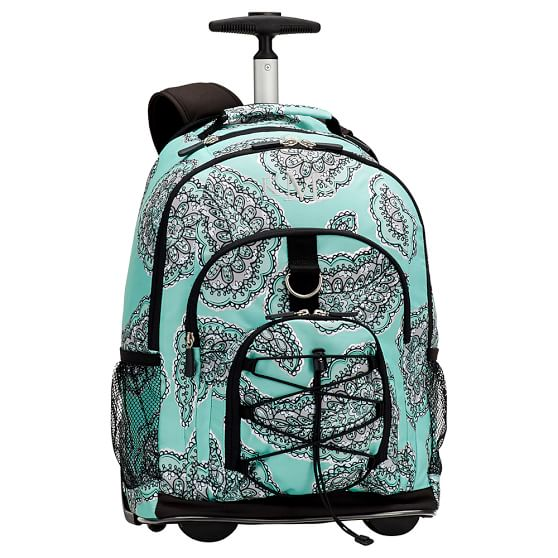 Gear-Up Pretty Paisley Rolling Backpack