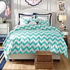 Chevron Duvet Cover, Twin, Pool
