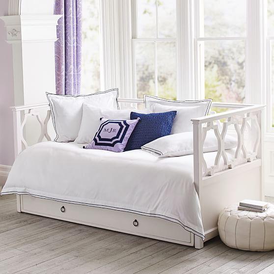 elsie daybed trundle pbteen. Black Bedroom Furniture Sets. Home Design Ideas