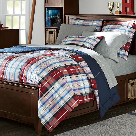 Portsmith Plaid Comforter + Sham