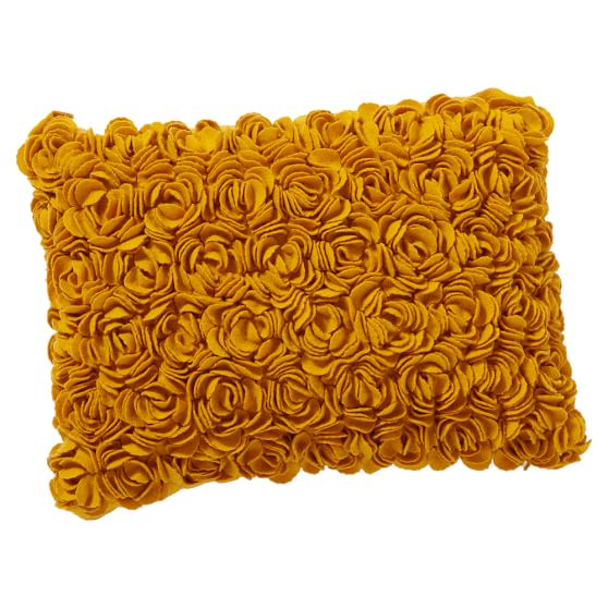 Rosette Decorative Pillow : Felted Rosette Pillow Cover PBteen