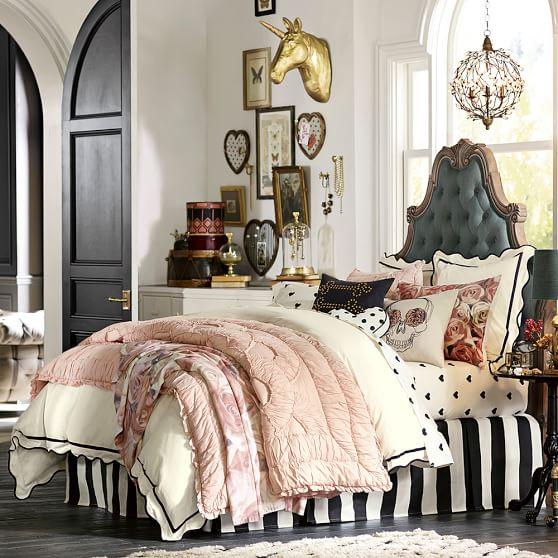 Pbteen Room Designer Pottery Barn Teen Girls Bedroom Pb: The Emily & Meritt Scallop Duvet Cover + Sham
