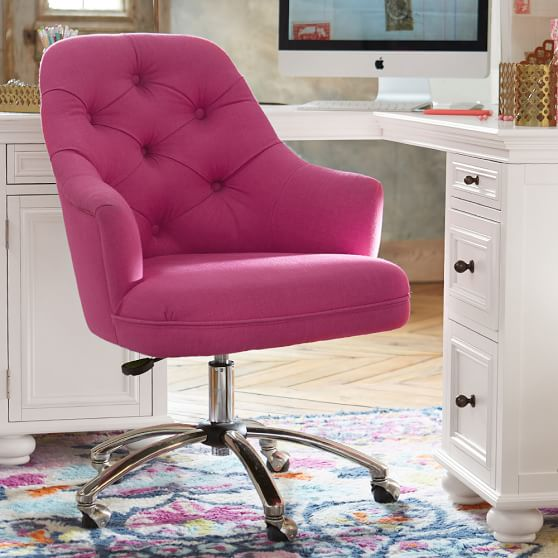 Velvet tufted desk chair pbteen - Pottery barn schoolhouse chairs ...