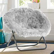 fur rockin 39 roller desk chairs pbteen. Black Bedroom Furniture Sets. Home Design Ideas