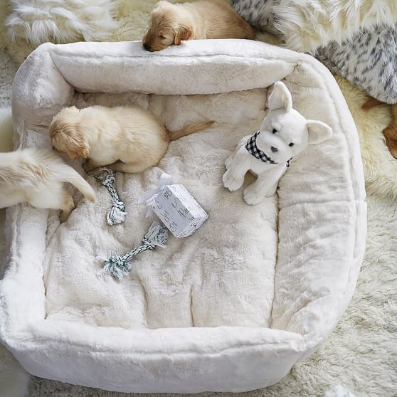 faux fur pet bed ivory luxe pbteen