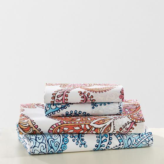 Clarissa Sheet Set, Twin/Twin XL, Multi Warm