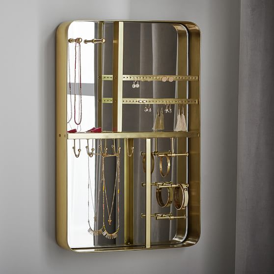 brass jewelry organizer pbteen. Black Bedroom Furniture Sets. Home Design Ideas