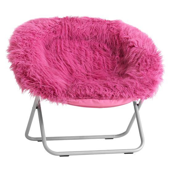 Pink Fur Rific Faux Fur Hang A Round Chair Pbteen