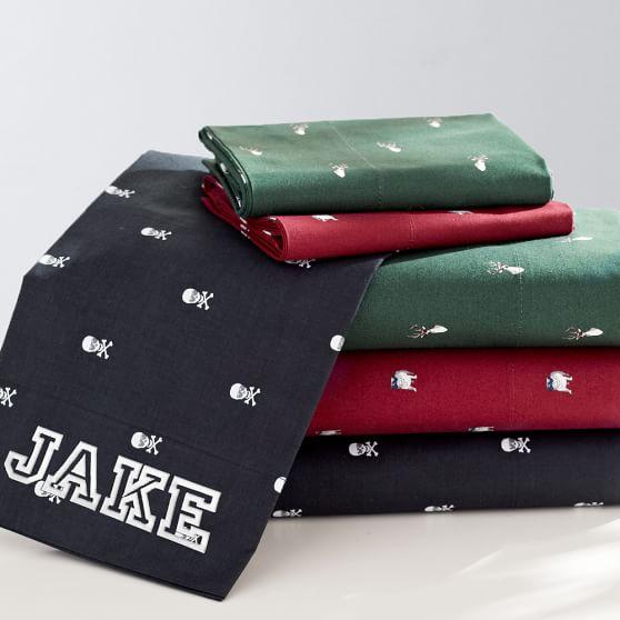 Creature Comfort Sheet Set, Twin/Twin XL, Deer Dark Green