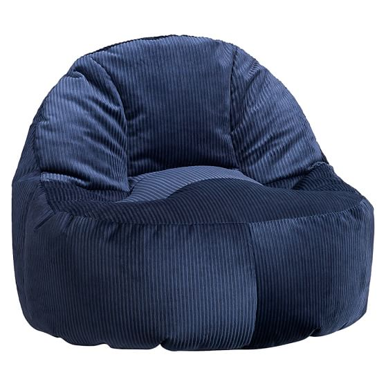 Navy wide wale cord leanback lounger pbteen - Leanback lounger chairs ...