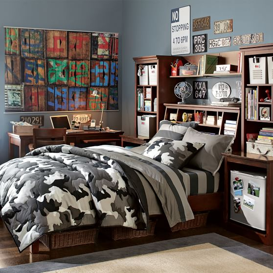 StuffYourStuff Classic Bed Set  PBteen ~ 071408_Camo Dorm Room Ideas