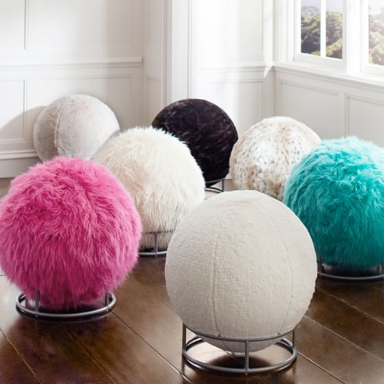 fur rockin  roller desk chairs pbteen Exercise Ball Chair Walmart Chiropractic Approved Ergonomic Ball Chair