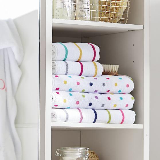 Rainbow Stripe Bath Towels Pbteen