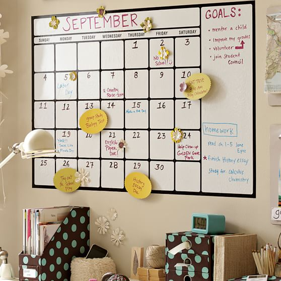 Dry Erase Calendar Decal : Dry erase calendar decal pbteen