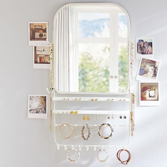 over the door jewelry organizer mirror pbteen