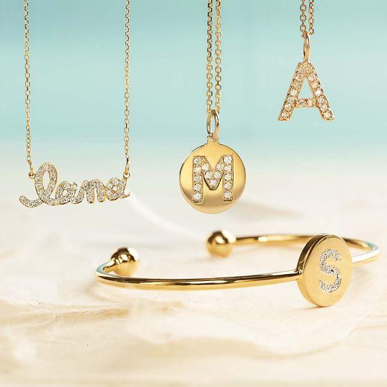 sarah chloe ava petite diamond name necklace pbteen. Black Bedroom Furniture Sets. Home Design Ideas