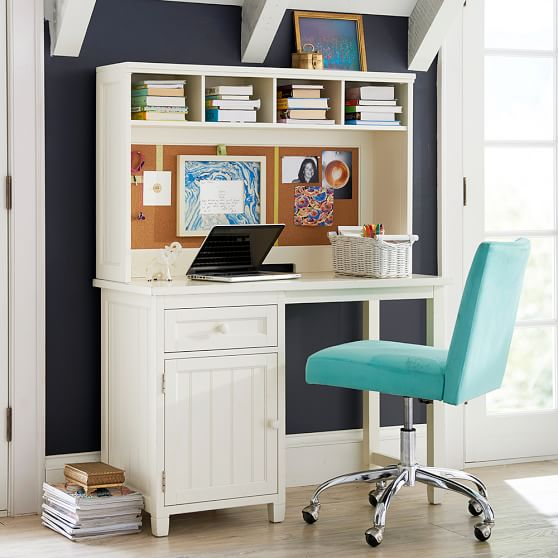 beadboard space saving desk hutch pbteen