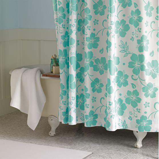 Hibiscus Organic Shower Curtain