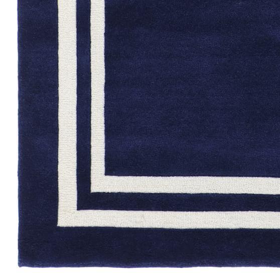 Decorator Border Rug Royal Navy Pbteen