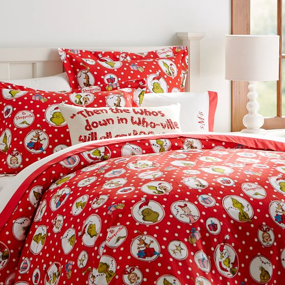 The Grinch Flannel Duvet Cover Pbteen