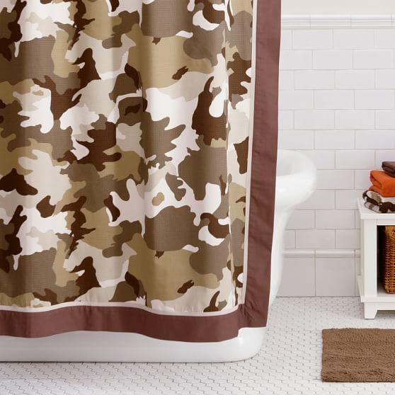 Camo Shower Curtain Pbteen