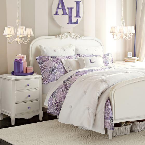 Pbteen Room Designer Pottery Barn Teen Girls Bedroom Pb: Lilac Bedside Table