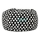 Black Painted Dot Large Beanbag Slipcover + Beanbag Insert