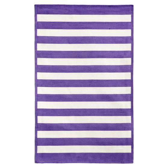 Capel Cottage Stripe Rug, Purple, 3x5