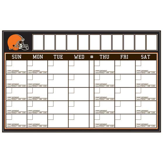 NFL Calendar, Cleveland Browns