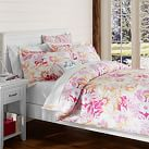 Island Floral Surf Duvet Cover, Twin, Pink Multi