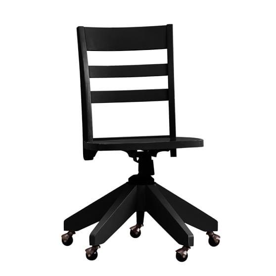 Swivel Desk Chair, Black