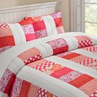 Punchy Patchwork Quilt, Twin, Pink Multi