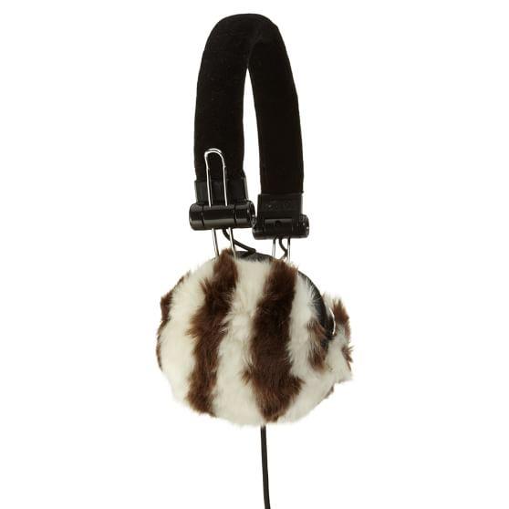 Fur Headphones, Zebra