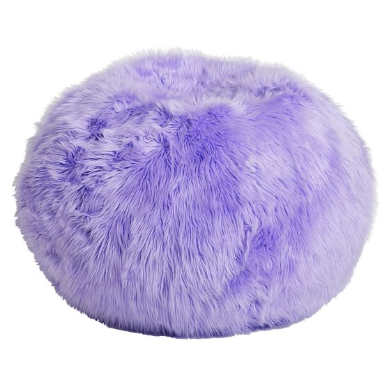 Fur-rific Lilac Beanbag Slipcover + Beanbag Insert, Large