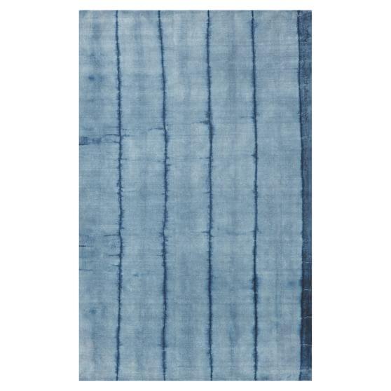 Tie-Dye Stripe Rug, 3x5, Navy