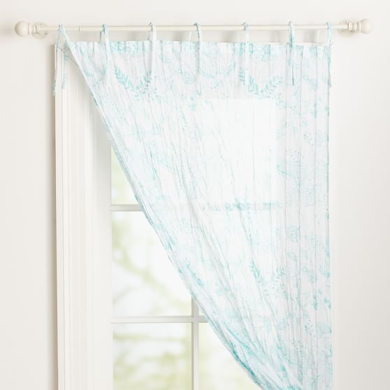 Hana Floral Printed Twisted Sheer, 40x108