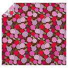 Chloe Floral Organic Duvet Cover, Twin, Pink Multi