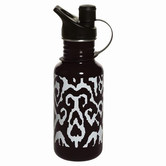 Ikat Water Bottles, Black Ikat