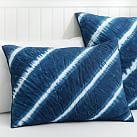 Tahiti Tie Dye Quilt, Standard Sham, Royal Navy