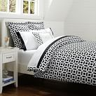 Peyton Duvet, Twin, Black